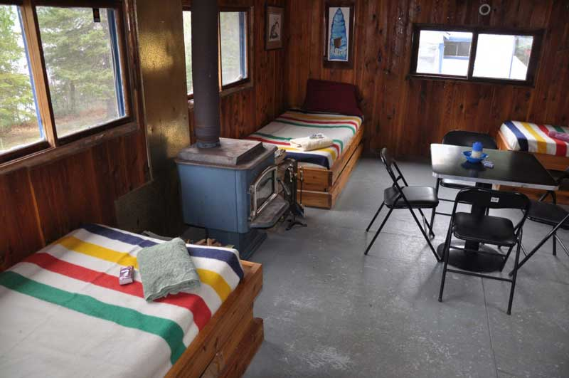 indoor cabin at Blue Lake Camp - trout fishing lodge on Lake Kirkpatrick