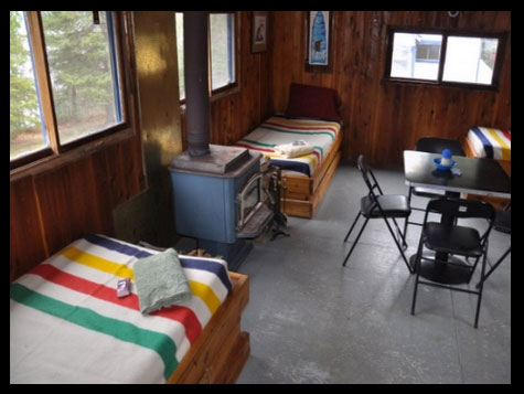 Guest cabins at Blue Fox Camp