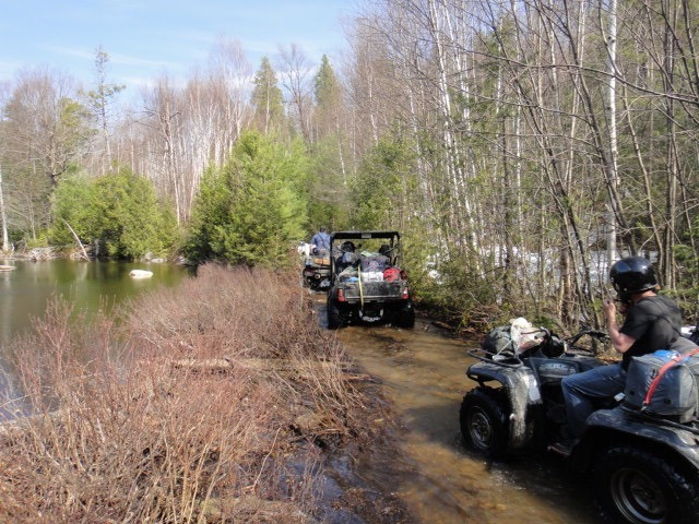 atv trout fishing